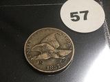1857 Flying Eagle Cent (Stamped R)