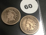 1859 and 1860 Indian Cents