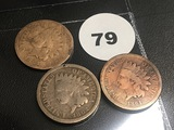 1861, 1862, 1864 Indian Cents