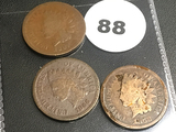 1866, 1867, 1868 Indian Cents