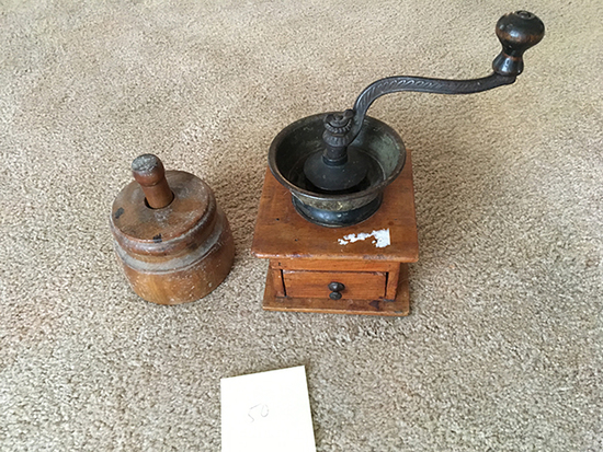 Coffee Grinder and Butter Mold