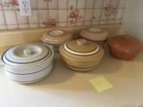 Crock Bowls with Lids