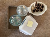 2 Decorating Glass Balls and Dishes