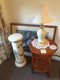 Flower Stand, Table, Lamp, Picture