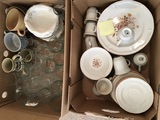 Set of Dishes and Glasses etc
