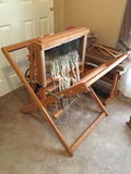 Schacht Spindle Floor Loom, 4 Treadles, 4 Shafts, As new with Bench