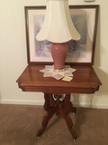 Lamp Table, Lamp and Picture