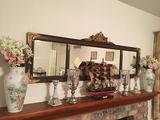 Buffet Mirror, Ship, Vases