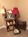 Lamps, Magazine Rack and as Shown