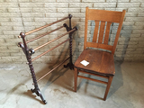 Quilt Rack and Chair