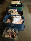 5 Totes Bedding and Misc