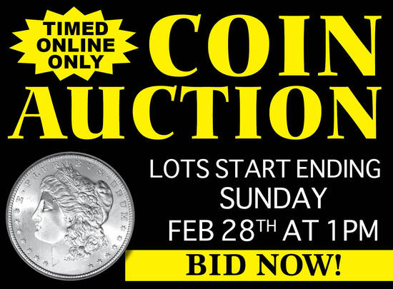 Timed Online Only Large Estate Coin Auction