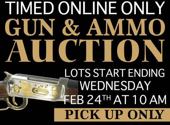 Timed Online Only Gun & Ammo Auction