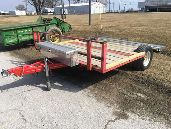 H.M. 8 ft x 10 ft trailer, 2 in. ball hitch (No Title)