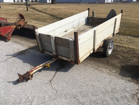 Tilt bed 4x8 trailer, has title
