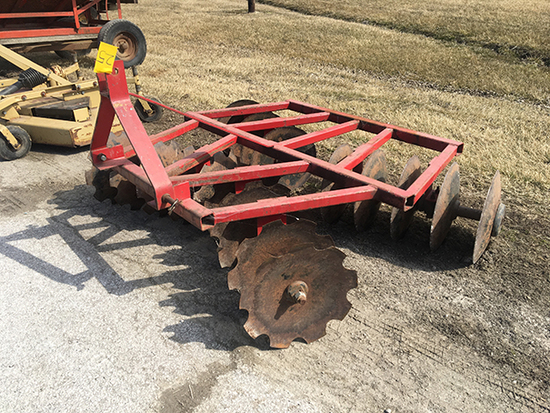 6 ft. 3 pt. disk, Heavy Duty, Notched front blades