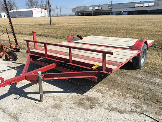 H.M. 8x10 ft. trailer, 2 in. ball hitch (No Title)