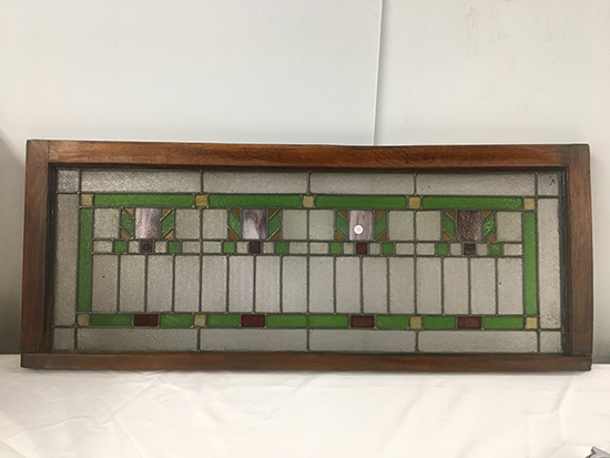 PICK UP ONLY -  48 in x 19 1/4 in Lead Glass Window, Good Condition, Needs re-caulked