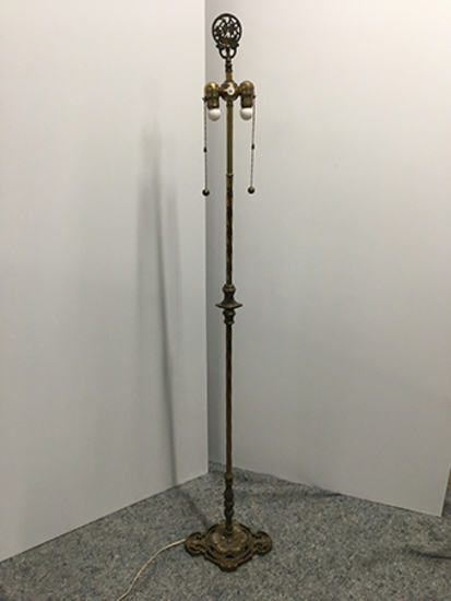 PICK UP ONLY -  65 in tall brass floor lamp