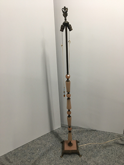 PICK UP ONLY -  64 1/2 in tall Akro Agate Art Deco floor lamp