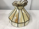 PICK UP ONLY -  11 in Hanging Slag Glass light, Good Condition