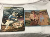 The Lone Ranger picture puzzle by Whitman & Wild Bill Hickok