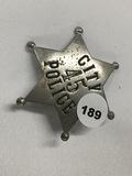 2 1/2 in. City 45 Police Badge