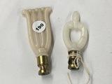 2 Aladdin electric lamp finials