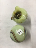 (2) Agate  Smokestand Lighter holders