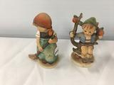 (2) Hummel figurines