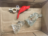 (2) candy containers and plastic bird