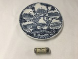 8 in. Keokuk, IA souvenir plate and thread case