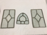 (2) 8x13 in. and (1) 8 x 7 3/4 in. (at bottom) lead glass pieces
