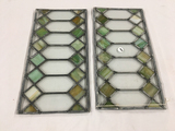 (2) 8 in. x 16 in. lead glass pieces