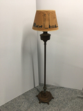 PICK UP ONLY -  Aladdin floor lamp, paper shade damaged