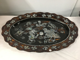 28 in x 18 in Inlaid Hanging Platter