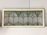 PICK UP ONLY -  Stained glass window 44 in x 19 in outside frame, Good Condition