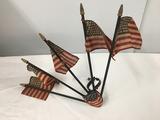 Vintage Radiator Flag hood ornament, as shown
