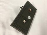 Brass elevator button