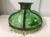 PICK UP ONLY -  23 in Slag Glass lamp shade, Good Condition