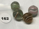 (4) 5/8 and 3/4 in. Marbles