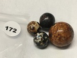 (3) 5/8 in. (1)1  in. Marbles