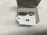 Size 6 Turquois Ring marked Sterling, Size 5 1/2 Pink Stone Ring