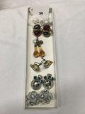 6 pr. Clip earrings