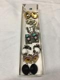 7 pr. Clip earring one pr bergere