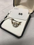 10 kt Opal Cluster Ring Size 7 1/4