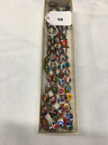 2 Italian Murano Glass Bead Necklaces, one 16 in, one 17 in
