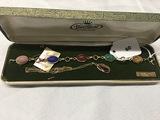 0.2 over 12 kt. Van Dell Scarab Bracelet 7 in genuine stones 0.2 gold filled Scarab necklace, not Va
