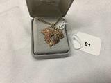 Black Hills Gold leaf pendant