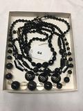 (1) Black Necklace 16 in, (3) Black Necklaces 18 in